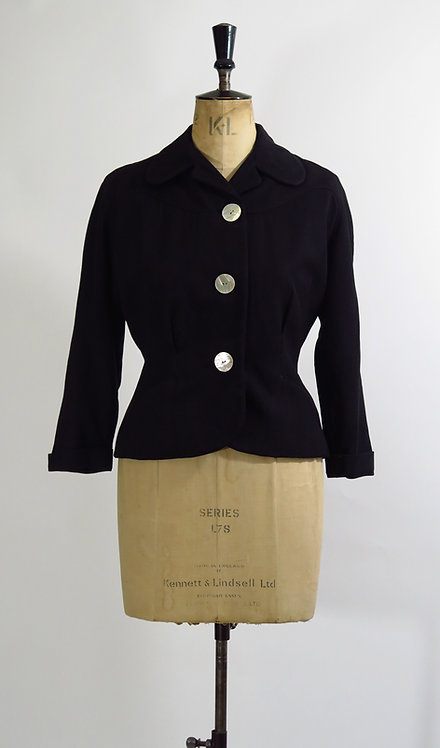 1950s Black Tailored Jacket