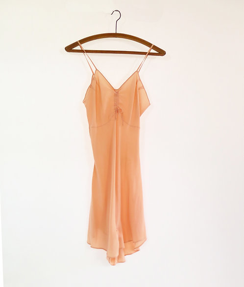 Vintage 1930s Cantaloupe Silk Hand Made Romper Playsuit Lingerie