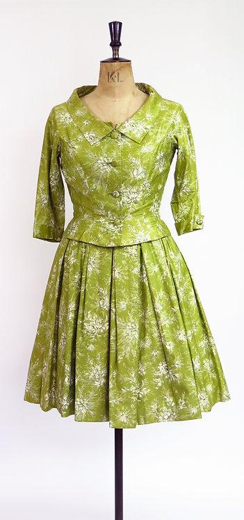 1950s Two Piece Dress Set