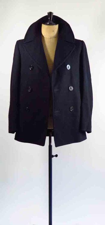 Navy Pea Coat  S-M