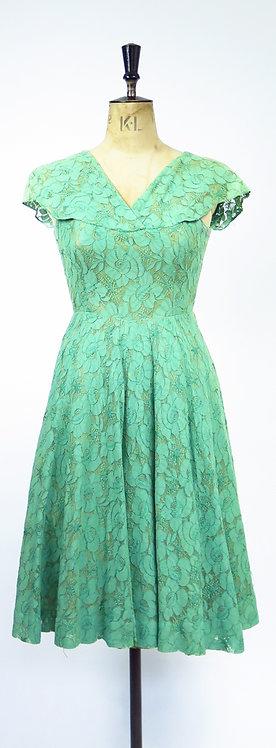 1950s Lace Cocktail Dress