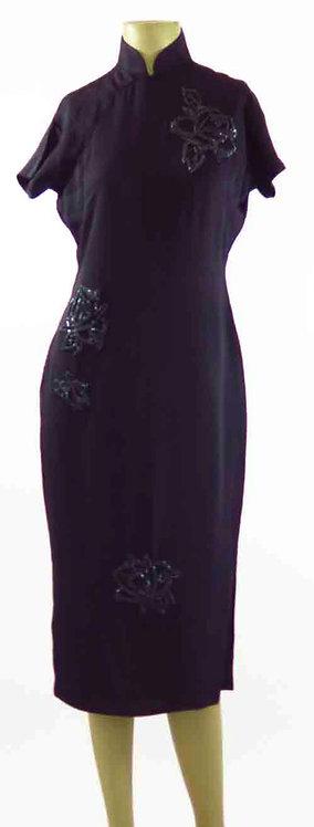 1950s Cheongsam Evening Dress