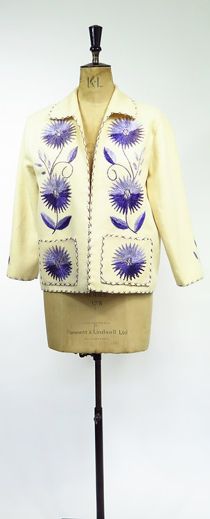 1950s Mexican Embroidered Souvenir Jacket