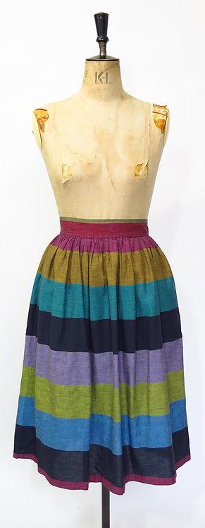 1980s Stripy Skirt