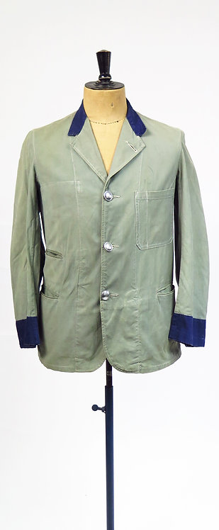 Vintage 1940s Transport Workwear Utility Uniform Jacket