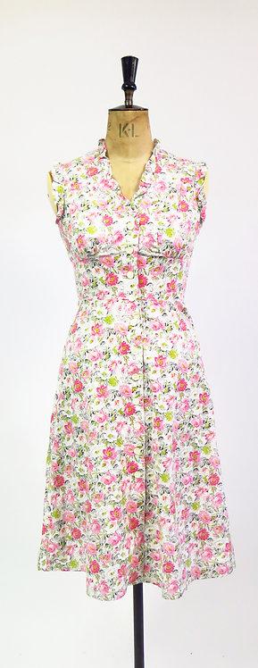 1960s Handmade Floral Dress