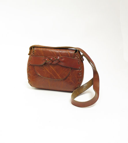 RESERVED FOR LUCY  Vintage 1970s Saddle Bag  Shoulder Bag