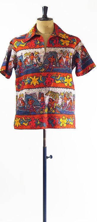1970s Hawaiian Shirt M-L