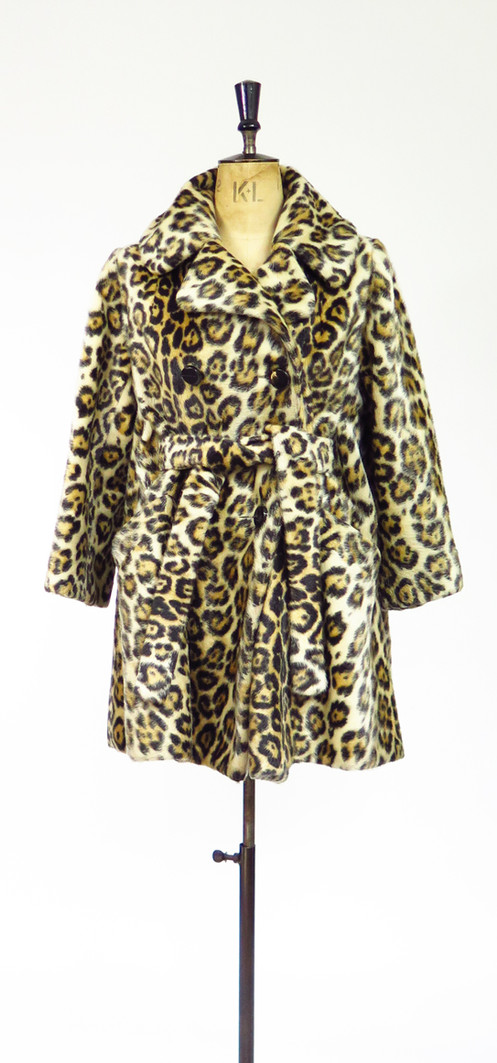 d8f6960306d2 Now, this is probably THE Best Leopard pint Coat we have ever come  across!!! 1950-60s Faux Fur Swing Coat which can be worn in a range of  styles depending ...