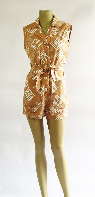 1950s Beach Cover Romper Playsuit