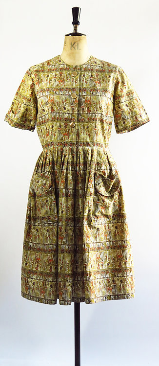 1950s With Pockets Day Dress