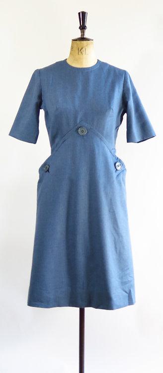 1950s Blue Day Dress