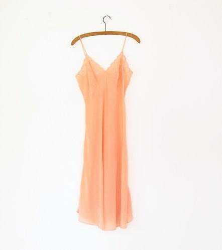 1940s Silk Embroidered Slip Dress