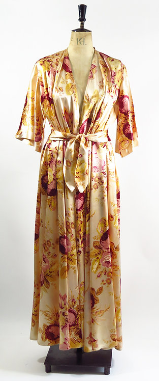 1930s-40s Satin House Coat