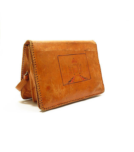 1930s Moroccan Leather Souvenir Bag