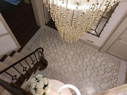 Carrara Marble with Brass Inlay Foyer