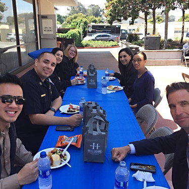 Serving Lunch for San Leandro Police Department