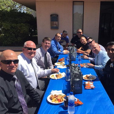 Lunch with San Leandro Police Officers