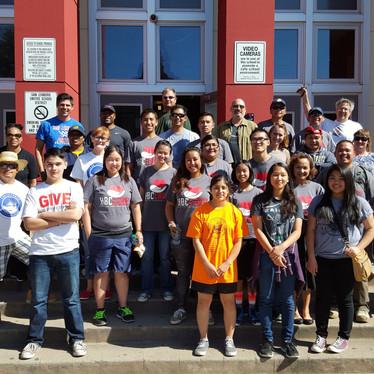 Volunteer team at School Beautification