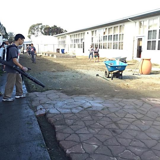 Beutifying a local elementary school
