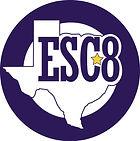 Image of Region 8 ESC Seal- Circle on White Background