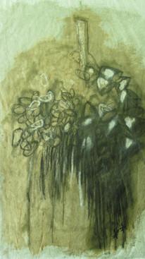 100 x 65, craie forestière et autres sur papier