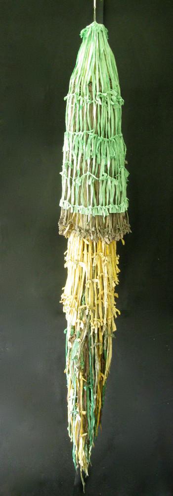 papier et cordes de papier, hauteur 203 cm