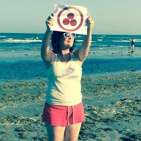 I spy #thecircleschool symbol at the beach