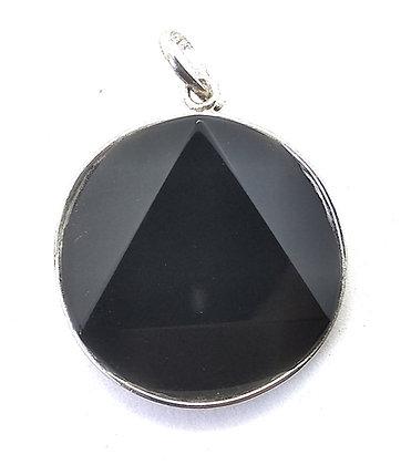 Star Of David / Six-pointed star pendant: Black Tourmaline