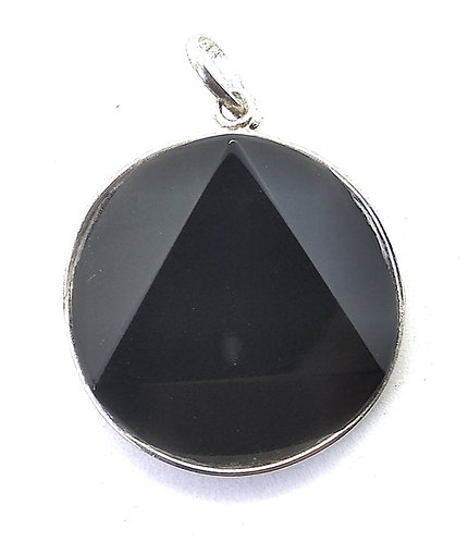 Star Of David / Six-pointed star pendant: Black Tourmaline