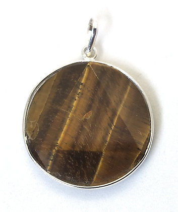 Star Of David / Six-pointed star pendant: Tiger Eye