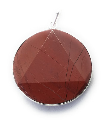 Star Of David / Six-pointed star pendant: Red Jasper