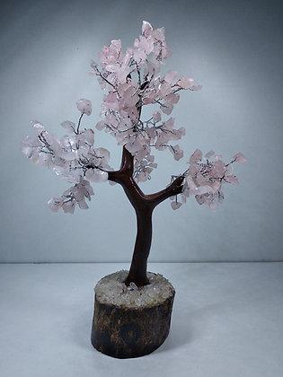 Buy 1 Rose Quartz Crystal Tree and Get 1 Heart Pendant Free