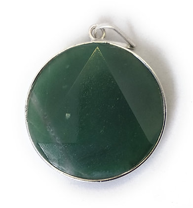 Star Of David / Six-pointed star pendant: Green Aventurine