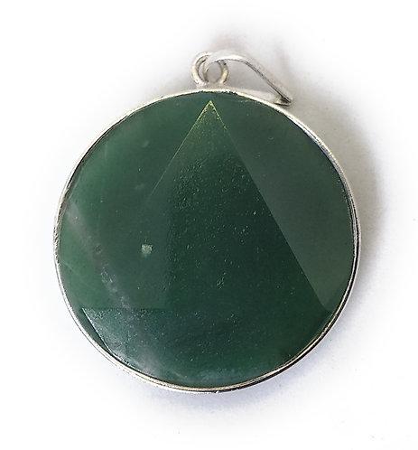 Star Of David / Six-pointed star pendant: Green Aventurine