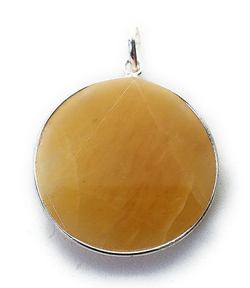Star Of David / Six-pointed star pendant: Yellow Aventurine