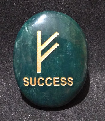 ZIBU symbol engraving on crystal pebble : Success