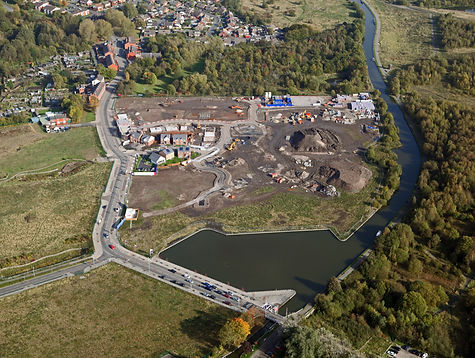 aerial view of new housing being constructed on a brown field site in the UK.jpg