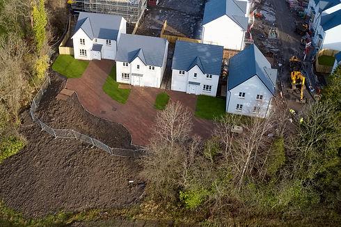 New private housing development construc