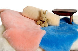 Sheepskin wool baby rugs