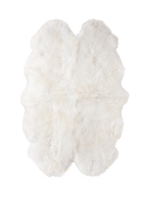 Long Wool Sheepskin Rug  -  Quad
