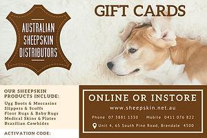 Sheepskin ugg boots gift cards