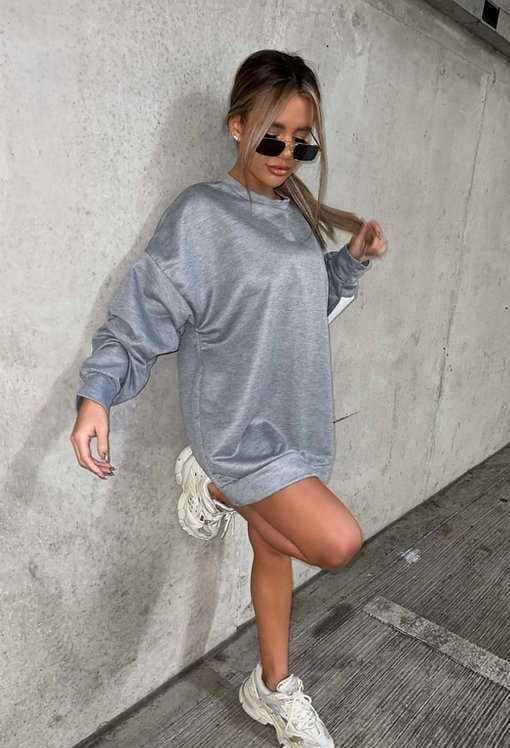 Buffalo New York Slogan Batwing Sweatshirt/Dress