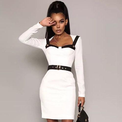 Contrast Black & White Bodycon