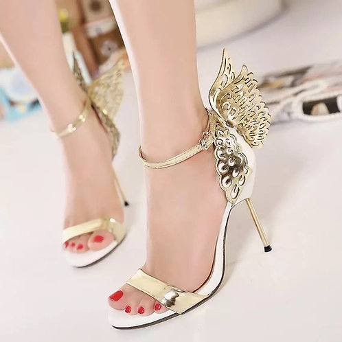 Contrast Butterfly Open Toe Thin Sandals