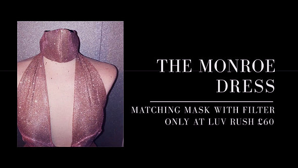 Rose Gold Monroe Dress And Mask