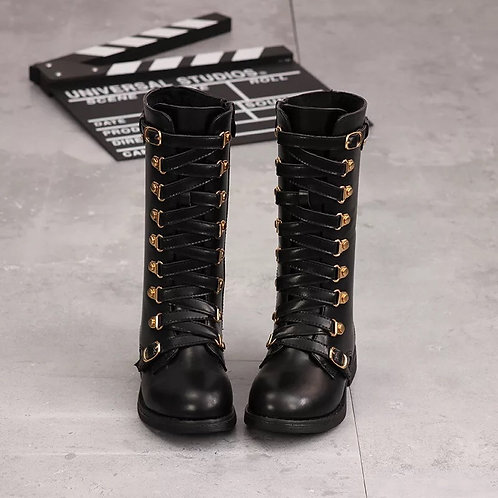 Girls Velvet Gold Detail Boots