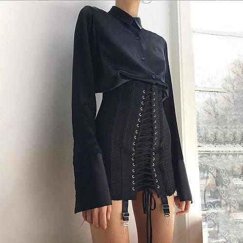 Bandage Cross Lace up Skirt