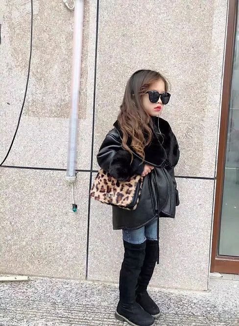 Girls Pu Leather Jacket