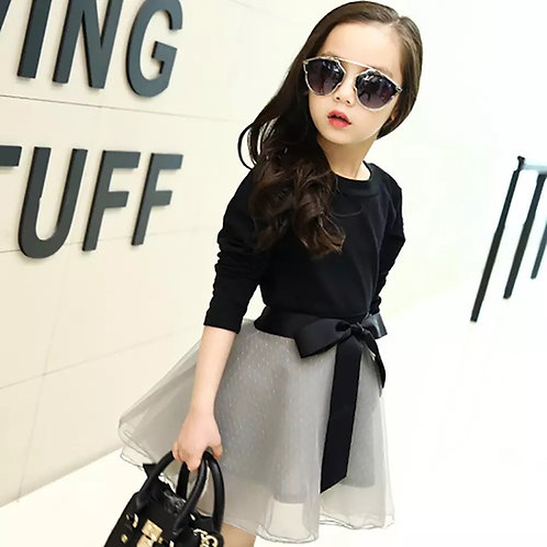 Girls Top with Mesh Skirt